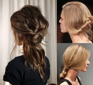 повседневные укладки на средние волосы